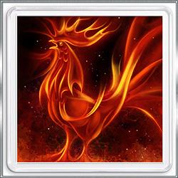 Магнит сувенирный Огненный Петух