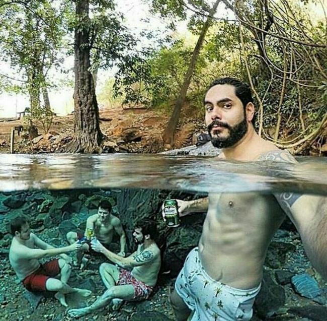 © imgur  Ребята изБразилии наконец нашли место, где имникто небудет мешать пить пиво. Отец