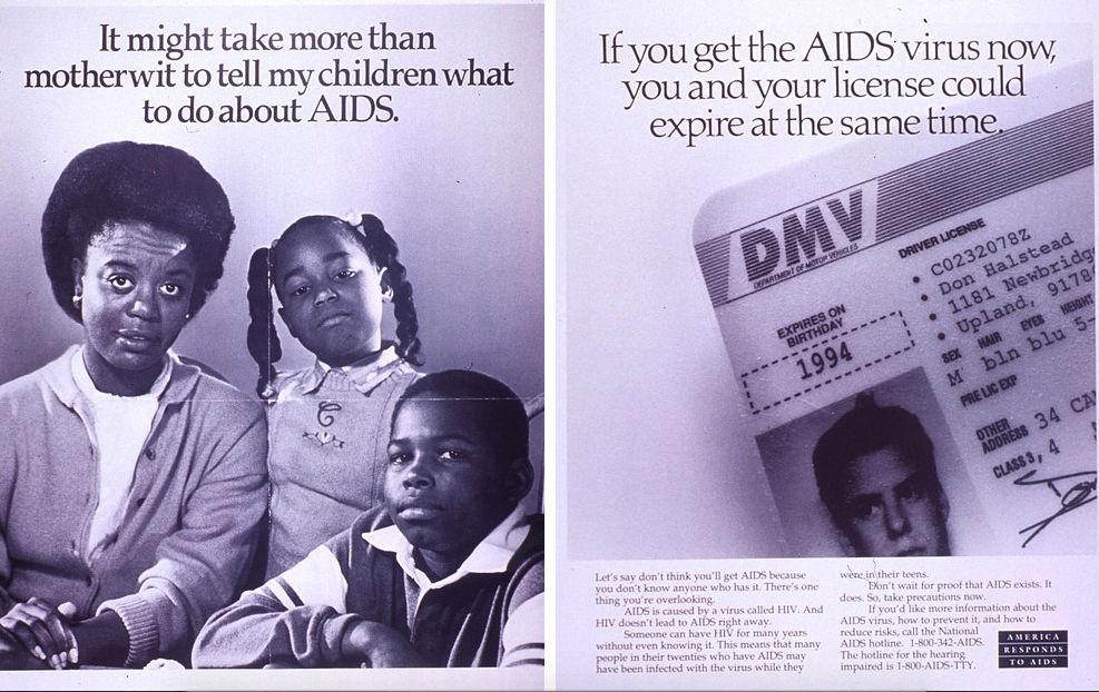Образцы литературы, которая должна была просвещать людей о СПИДе.
