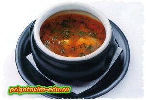 Суп рыбный с лимоном в горшочке