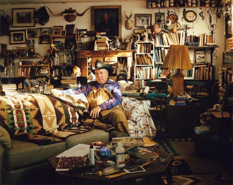 Торговец скотом Джонни Грин. Кортес, штат Колорадо, 2006 год. Грин утверждает, что продал королю вестерна, актёру Джону Уэйну, коня по имени Доллар, который впоследствии появлялся во многих кинокартинах.