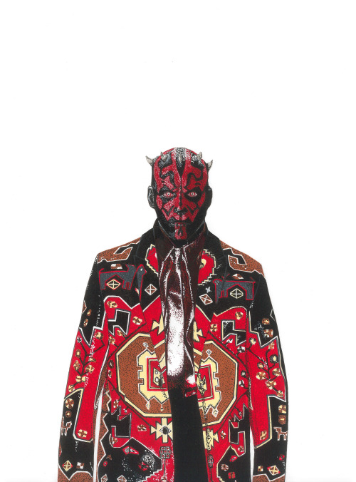 Darth Maul wearing Givenchy Fall 2015 Collection.