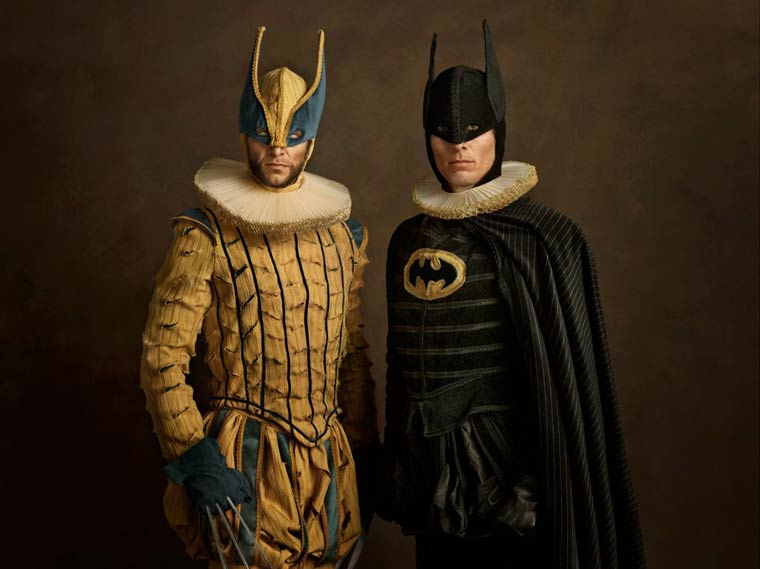 Family Portraits – Pop Culture and superheroes meet classical Flemish painting (12 pics)