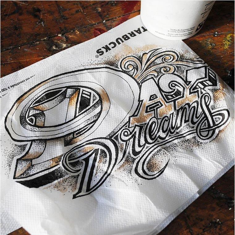 Coffee Time Lettering – Les nouvelles typographies de Rob Draper