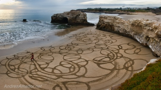 Hot Sand Art by Andres Amador & Jim Denevan