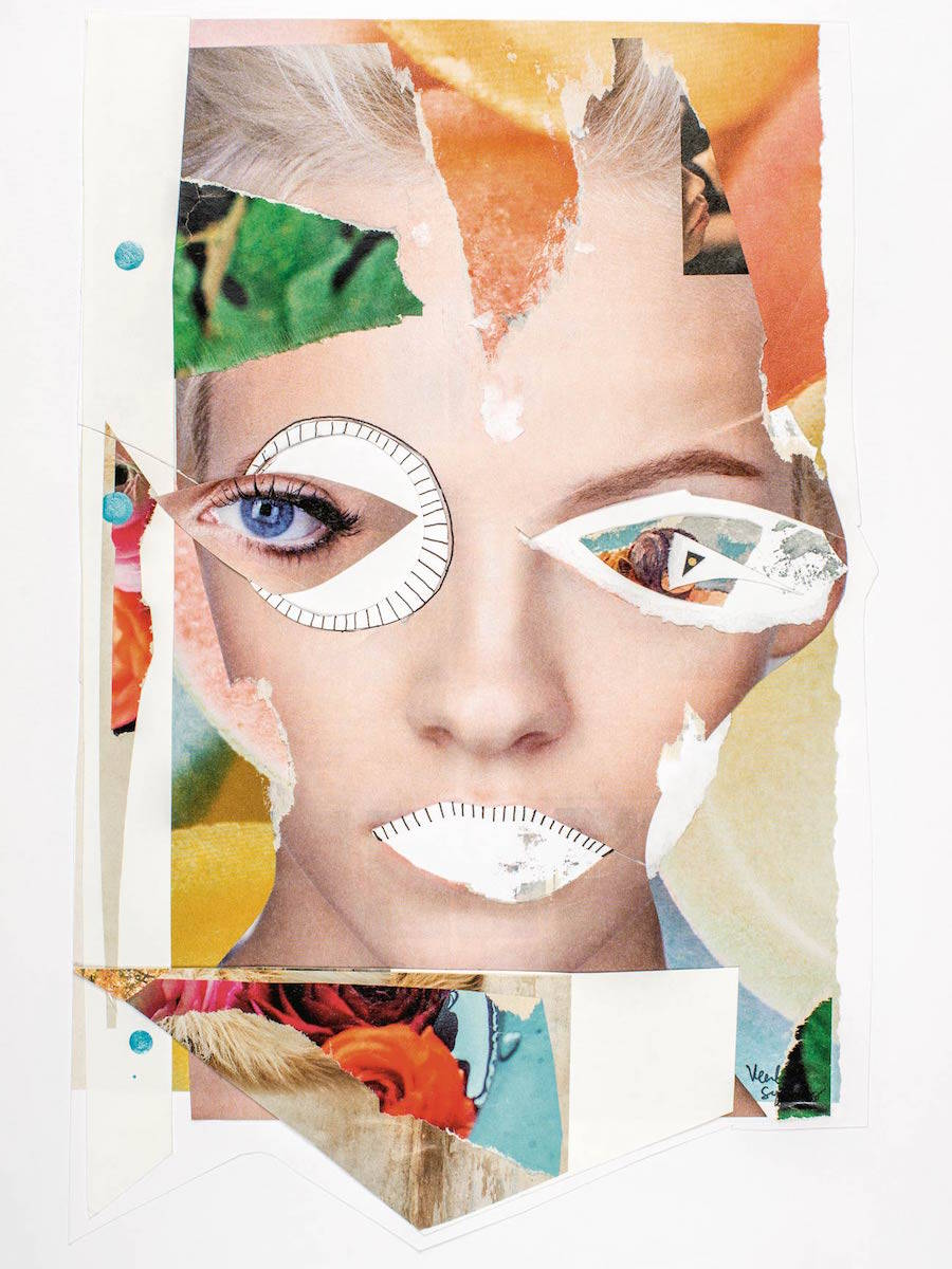 Recomposed Portraits with Fashion Magazine Pages