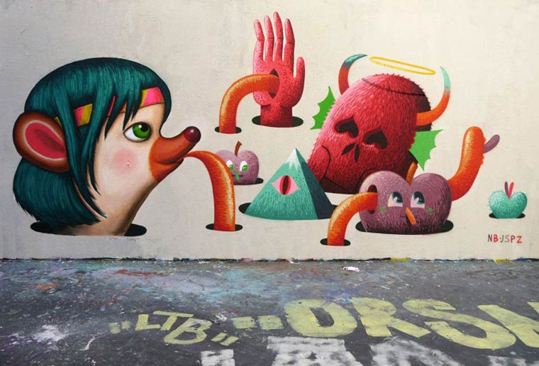 Dollhouse - Les creations Street Art et les illustrations d'Amandine Urruty