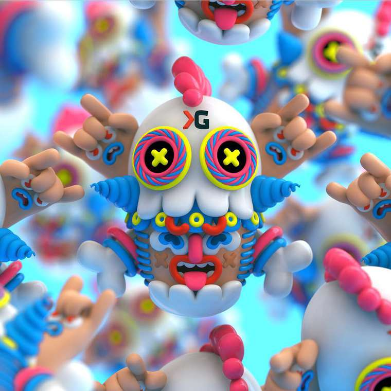 Grand Chamaco - Amazing pop and colorful digital sculptures