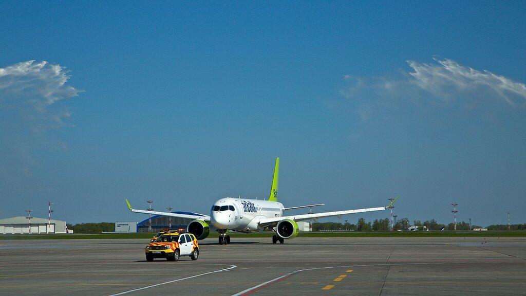 Первый визит Bombardier CS300 авиакомпании Air Baltic в Россию. Фото: khmelikvictor.livejournal.com