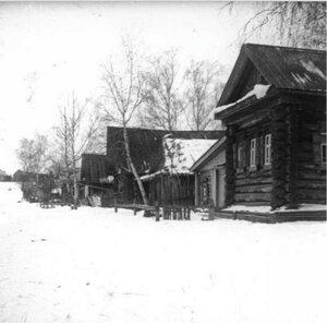 Сельская улица зимой