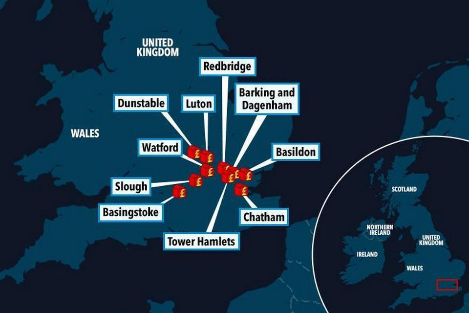 Обратная сторона Лутона, который был назван самым популярным местом проживания в Великобритании