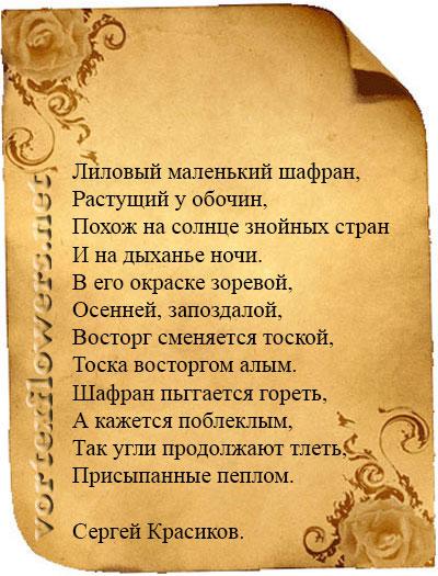 стихи о шафране