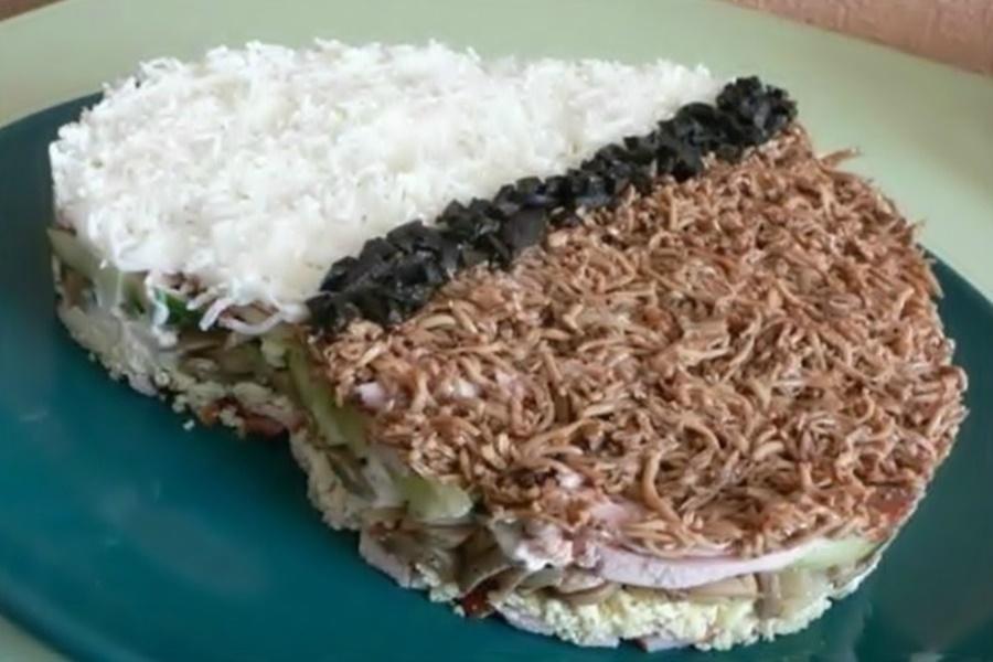 Оригинальный салат «Негрэско»   порционные блюда