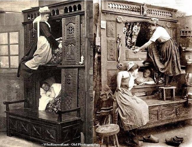 Спальни для горничных, Великобритания, 1843 год.