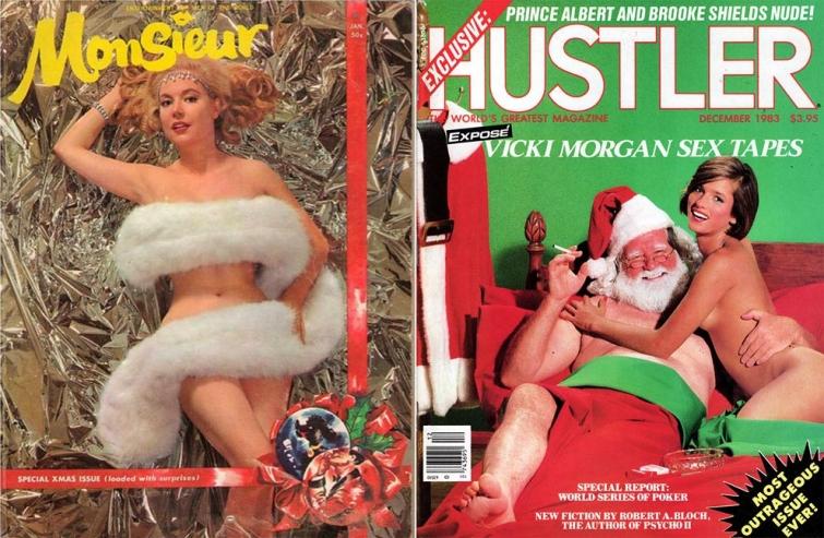 Винтажные рождественские обложки мужских журналов с 1940 по 1990-е годы (10 фото) 18+