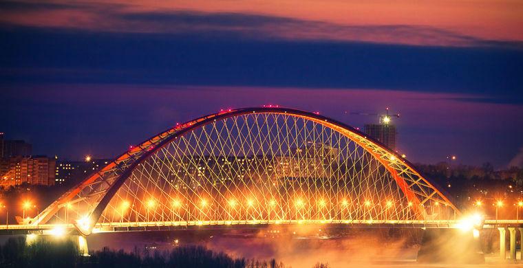11. Бугринский мост, Новосибирск Этот мост соединяет берега Оби. Благодаря изяществу моста его неред