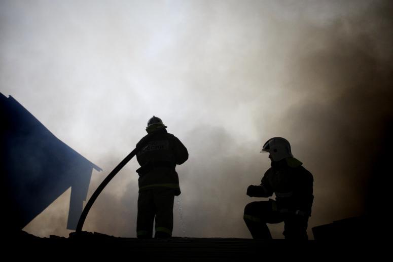 ВТихорецком районе сгорел жилой личный дом