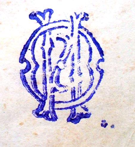 Вензельный штемпель Остроглазова  (2,2 x 1,7)  «И.О.»