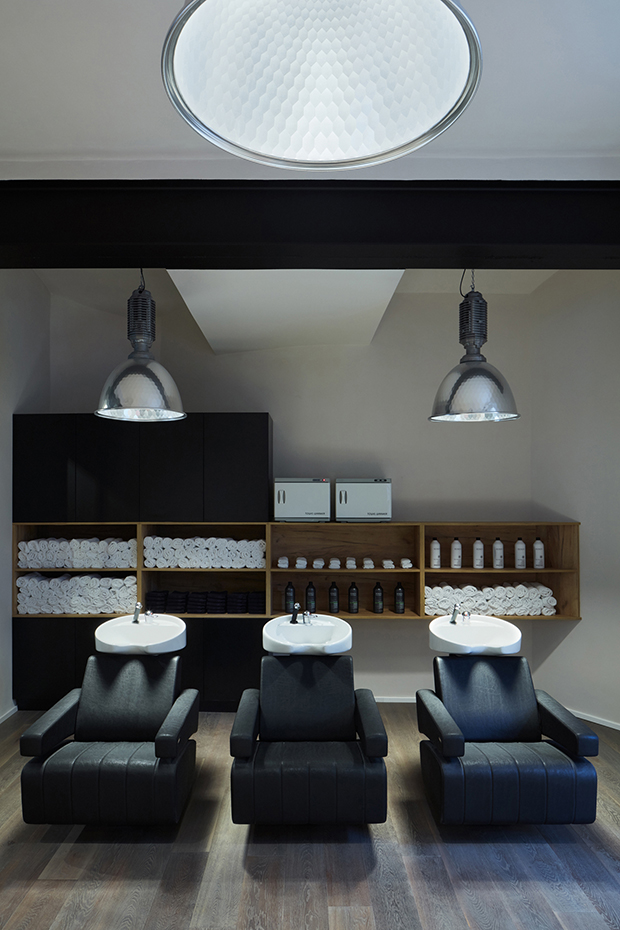 Barber Shop in Prague by Oooox Studio
