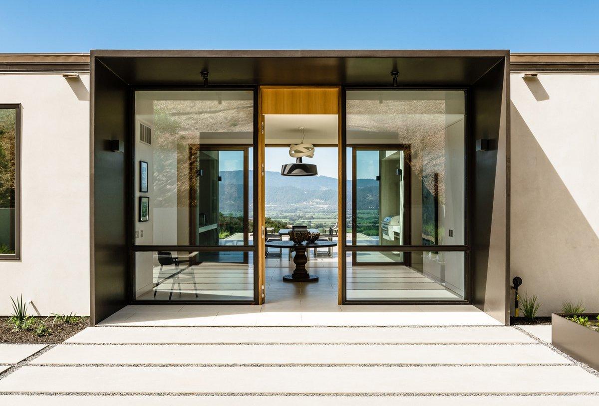 Silverado, John Maniscalco, экологичный дом, винный погреб в доме, частные дома в США фото, дом с видом на долину фото, частный дом с виноградниками
