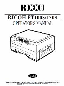 service - Инструкции (Service Manual, UM, PC) фирмы Ricoh - Страница 2 0_1b1de1_d893180e_orig