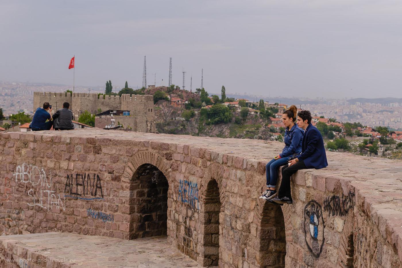 Фотография 25. Вечер на крепостной стене в Анкаре. Как мы ездили в Турцию отдыхать. 1/160, -0.33, 8.0, 500, 70.
