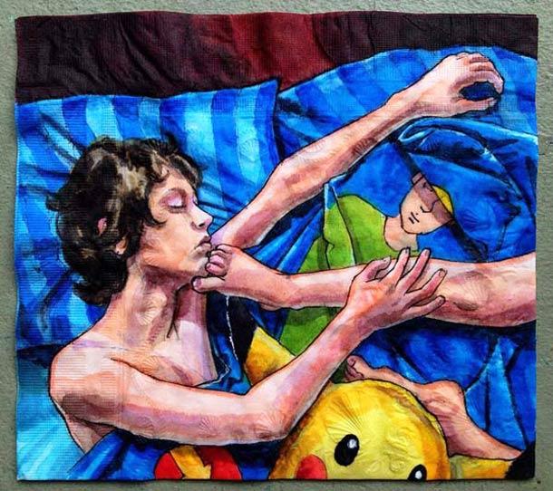 Quand une maman creative dessine sur les serviettes en papier de ses enfants