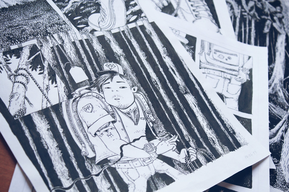 Aokigahara - Um incrivel projeto de Comicbooks