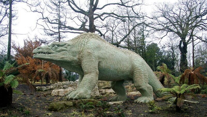 """Бенджамин Уотерхаус Хокинс - """"динозавры Хрустального дворца"""" (мегалозавр)"""