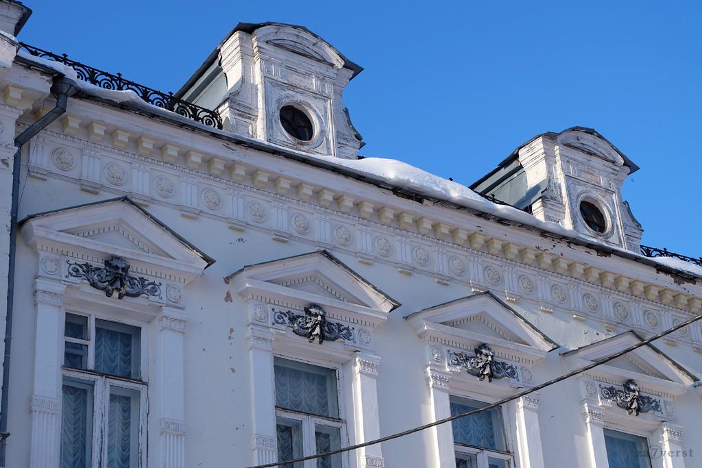 Дом-особняк М.А. Павлова в Шуе, внешний декор
