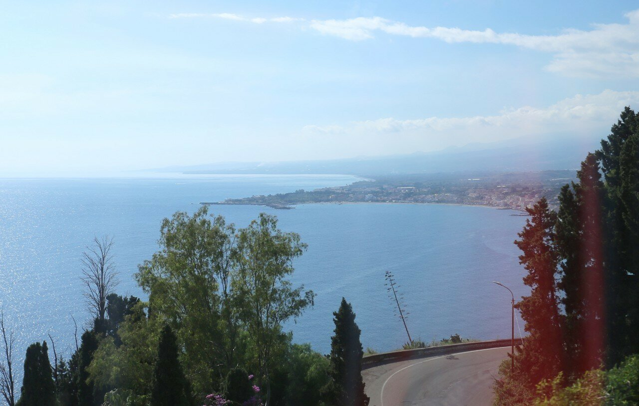 Taormina. View of Giardini Naxos Bay