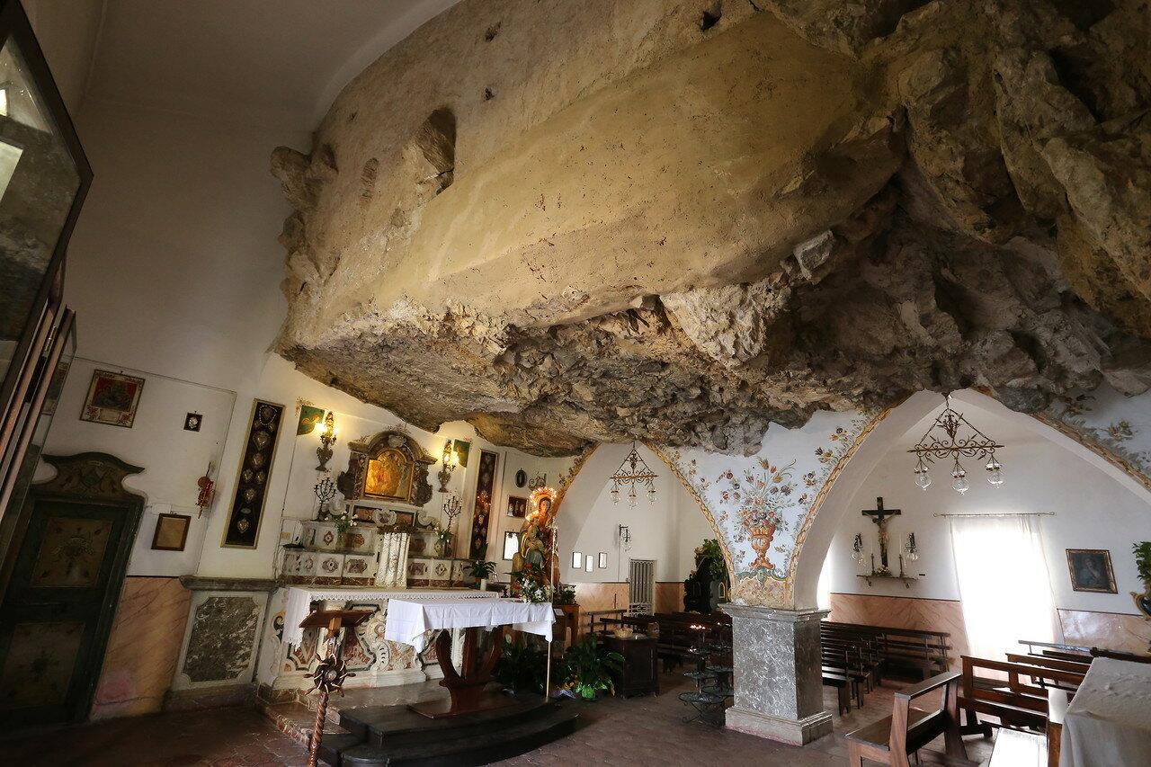 Taormina. Church of the rock (Madonna della Roca)