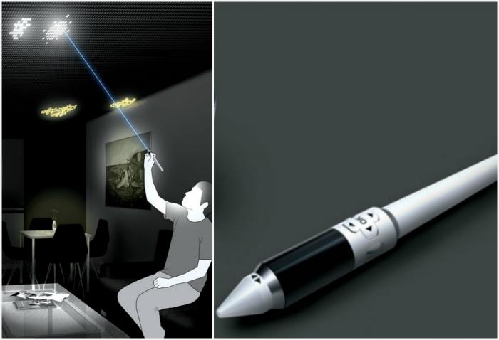 Интерактивный LED-потолок Draw The Lights. Концепт уникального LED-потолка, который можно в буквальн