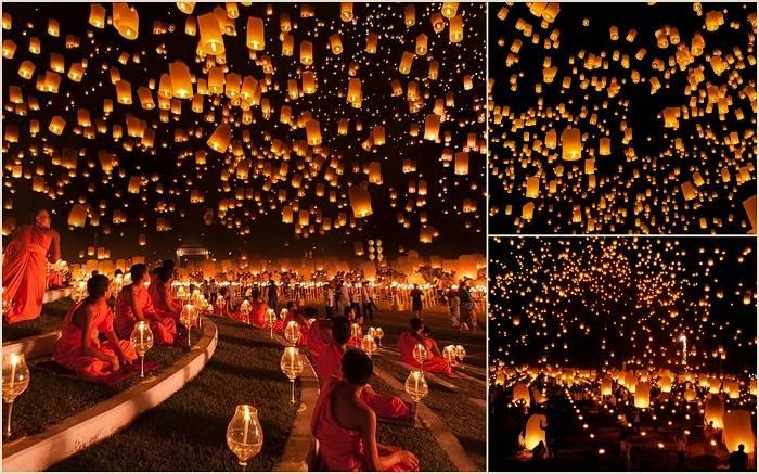 Ежегодно, каждый ноябрь в Таиланде проходит необычное и очень красивое мероприятие. В честь праздник