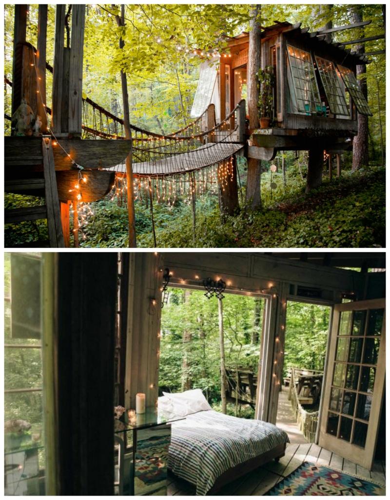 © Secluded Intown Treehouse   Подвесная кровать— для самого сладкого сна