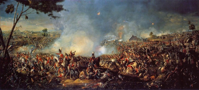 © wikimedia.org  Во французских школах учат , что французы выиграли битву при Ватерлоо . В б