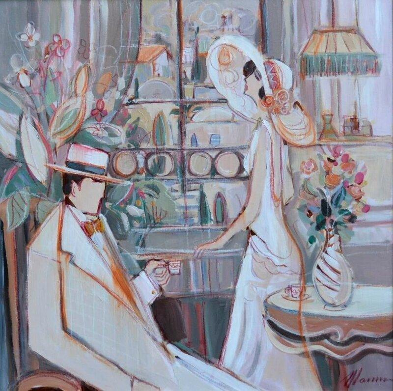 Романтический день (Romantic Day)_68 х 68_холст, акрил_Частное собрание.jpg
