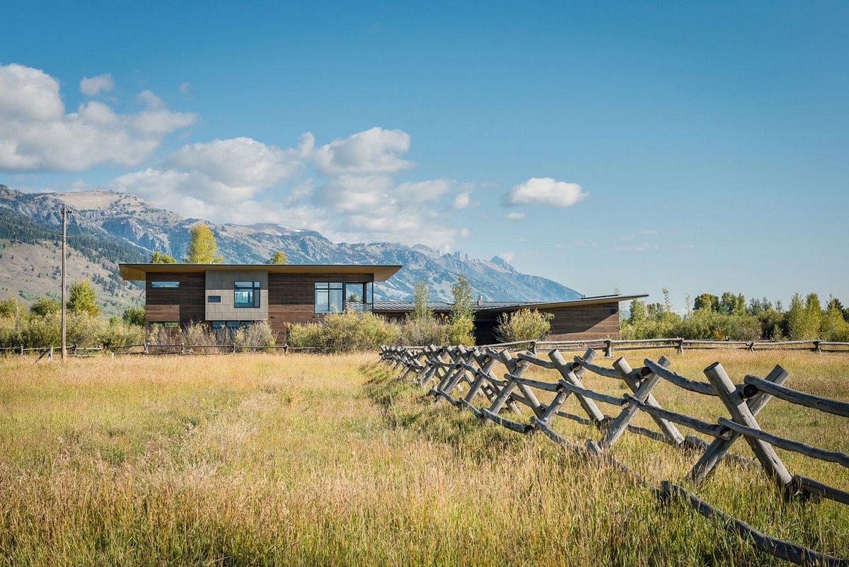 Американское ранчо в штате Вайоминг