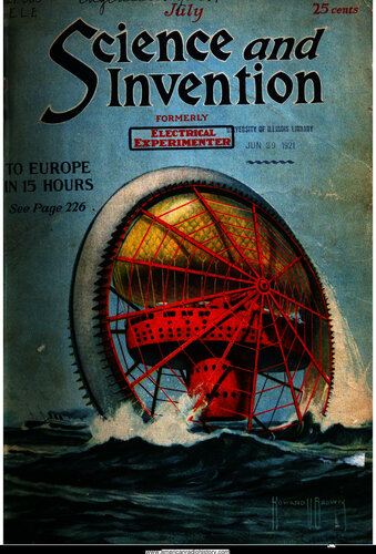 Science & Invention: 1921 July - - Book Cover