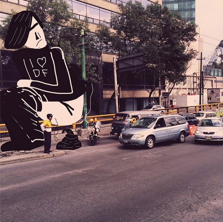 Streets of Mexico - Art director transforms his Instagram photos with strange characters