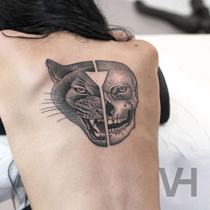 As tatuagens simetricas de Valentin Hirsch encontram o equilibrio perfeito entre natureza e Geometria