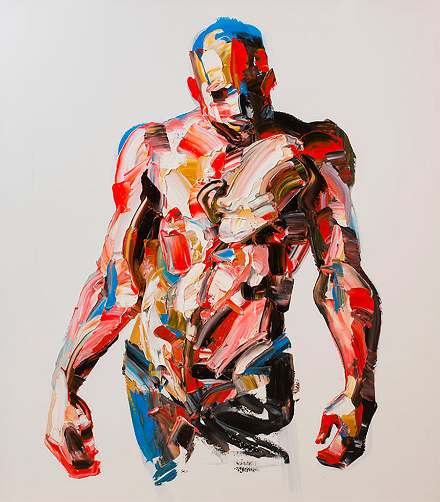 Large-Scale Palette Knife Paintings by Salman Khoshroo