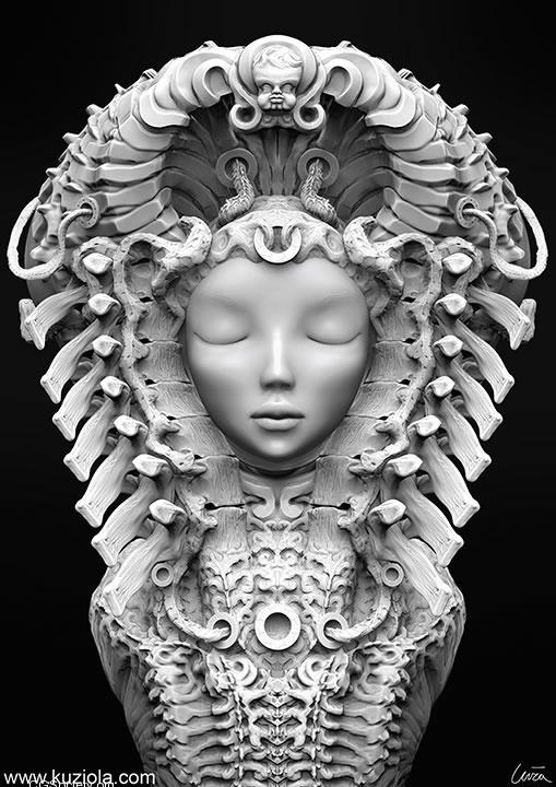 3D Illustrations by Andrzej Kuziola