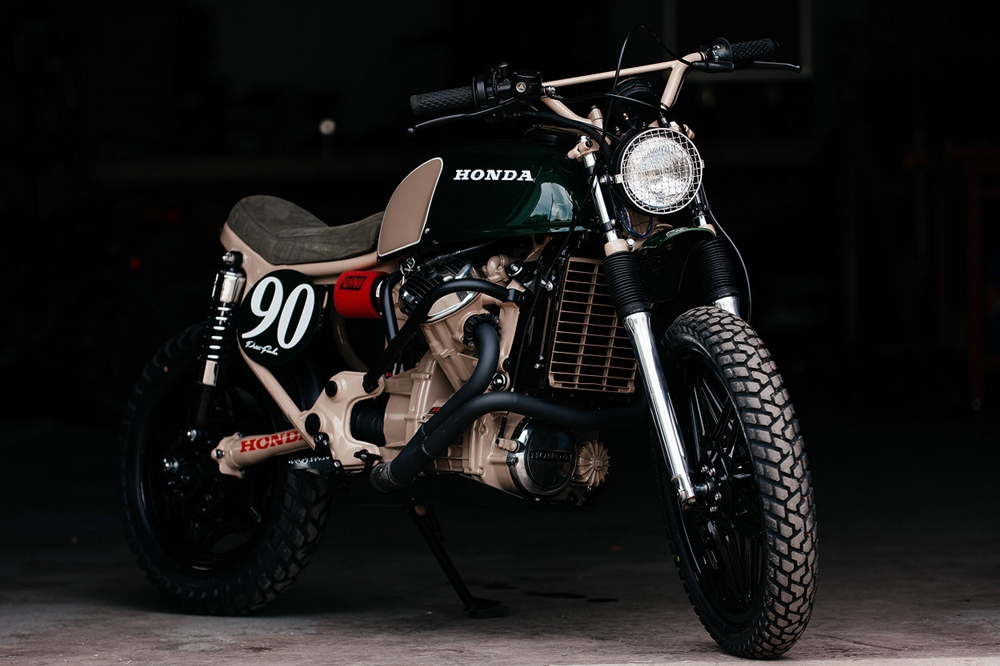 Brick House Builds: скрэмблер Honda CX500 Ranger Green