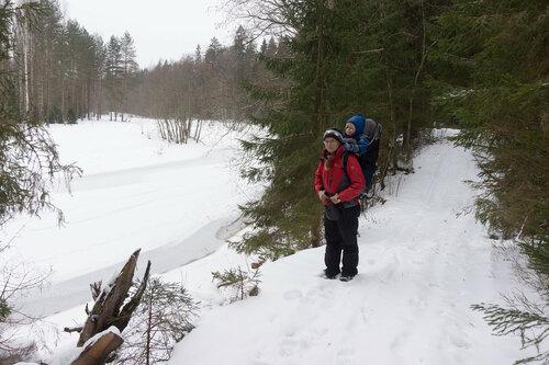 дорога вдоль оредежа у вырицы зимой