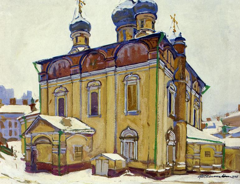 Собор Сретенского монастыря. 1679 г. Рисунок 1928 г..jpg