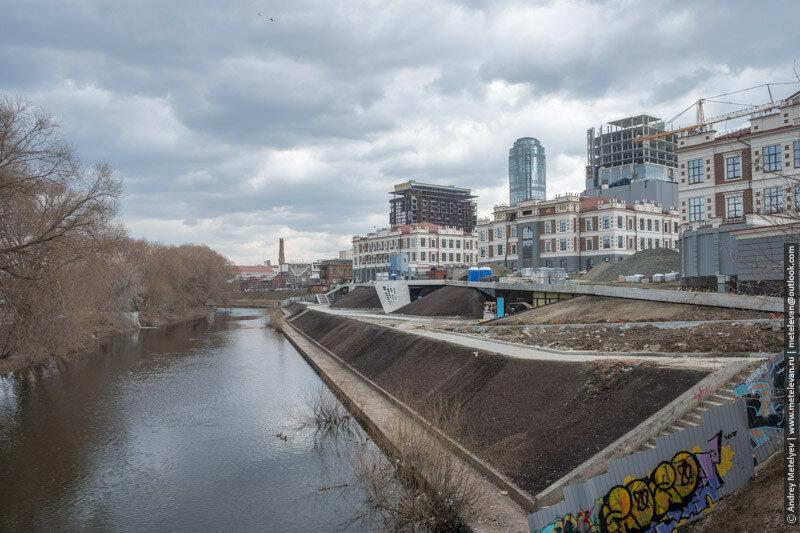 Скоро будет новая набережная на реке Исеть