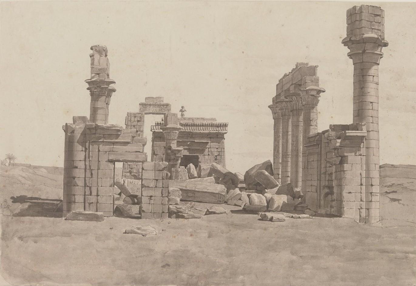 Гермонтис. Храм, построенный Клеопатрой VII. Храм был снесён в XIX веке при постройке сахарного завода