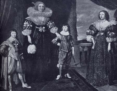 55Elizabeth Stuart (the second from left), Queen of Bohemia, with her eldest daughter Elizabeth (right) and her two youngest sons, Johann Philipp Fr.jpg