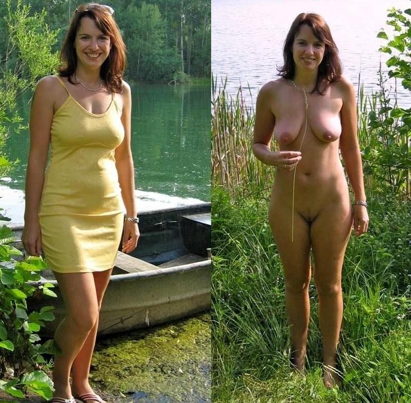 фото женщины раздетые и одетые